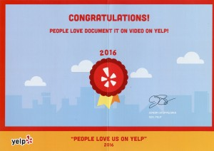 Yelp Certificate